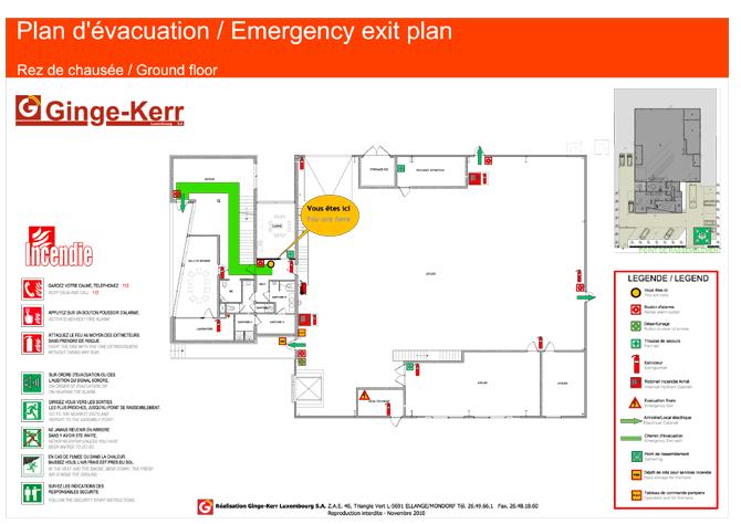 plan d'évacuation incendie luxembourg